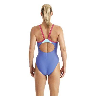 Speedo Endurance 10 PowerFlash Thin Strap Muscleback Ladies Swimsuit blue 2