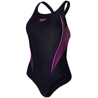 Speedo Endurance 10 Samba Blend Placement Powerback Ladies Swimsuit