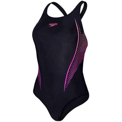 Speedo Endurance 10 Samba Blend Placement Powerback Ladies Swimsuit