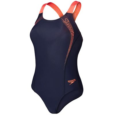 Speedo Endurance 10 Sports Logo Medalist Ladies Swimsuit