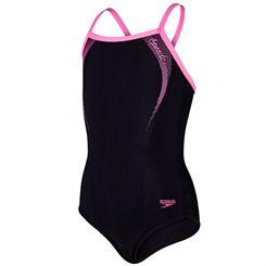 Speedo Endurance 10 Sports Logo Thinstrap Muscleback Girls Swimsuit