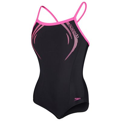 Speedo Endurance 10 Thinstrap Muscleback Girls Swimsuit - Main Image
