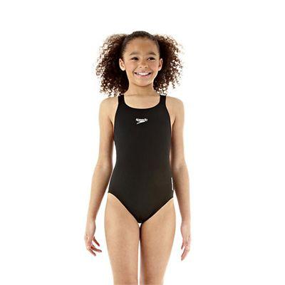 Speedo Endurance Medalist Girls Swim Suit-black-a