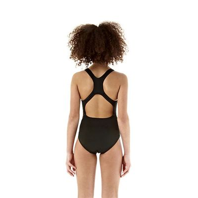 Speedo Endurance Medalist Girls Swim Suit-black-c
