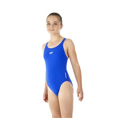 Speedo Endurance Medalist Girls Swim Suit-blue-b