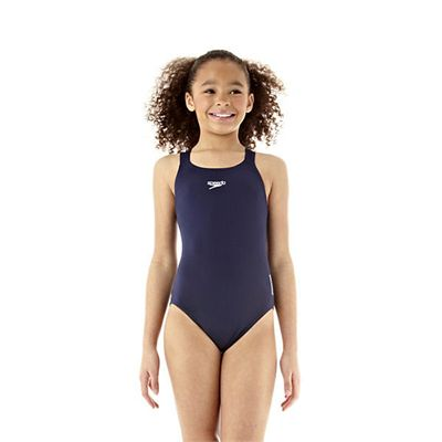 Speedo Endurance Medalist Girls Swim Suit-navy-a