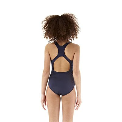 Speedo Endurance Medalist Girls Swim Suit-navy-c