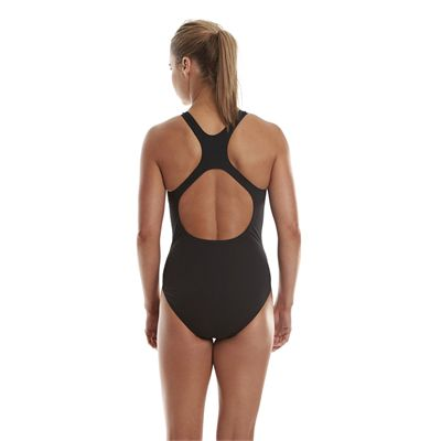 Speedo Endurance Medalist Ladies Swim Suit - Black - Back View
