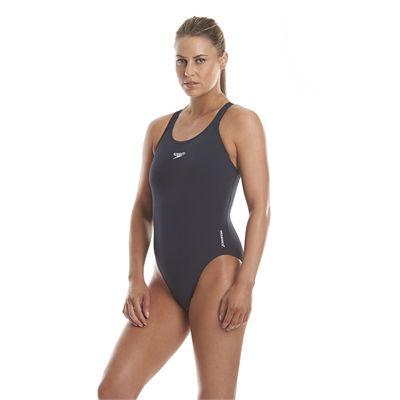 Speedo Endurance Medalist Ladies Swim Suit - Navy - Side View