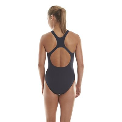 Speedo Endurance Medalist Ladies Swim Suit - Navy - Back View