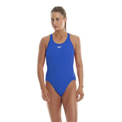 Speedo Endurance Medalist Ladies Swim Suit - Neon Blue