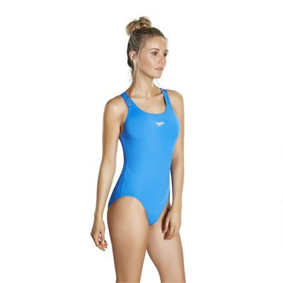 Speedo Endurance Medalist Ladies Swim Suit - Neon Blue