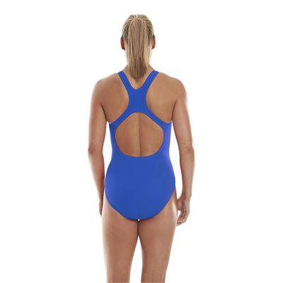 Speedo Endurance Medalist Ladies Swim Suit - Neon Blue - Back View