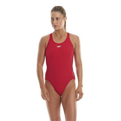 Speedo Endurance Medalist Ladies Swim Suit - Red
