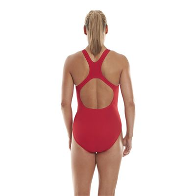 Speedo Endurance Medalist Ladies Swim Suit - Red - Back View