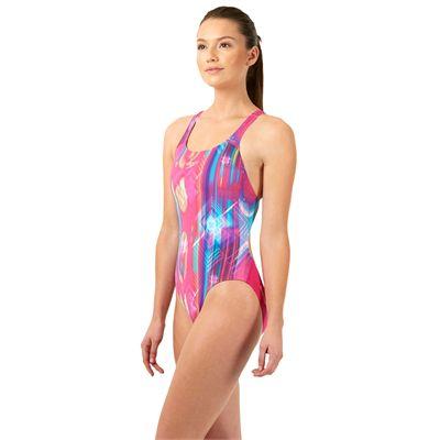 Speedo Endurance Plus Allover Digital Leaderback Ladies Swimsuit - Side