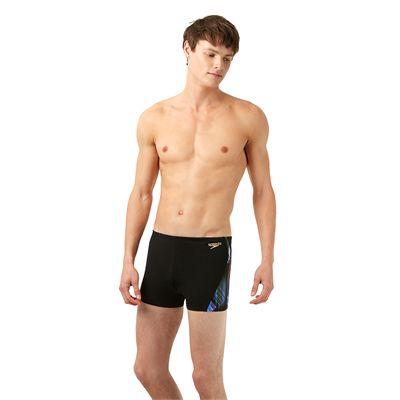 Speedo Endurance Plus Allover Digital Panel Mens Aquashorts - Left Side View
