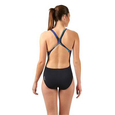 Speedo Endurance Plus Allover Digital Powerback Ladies - Back View