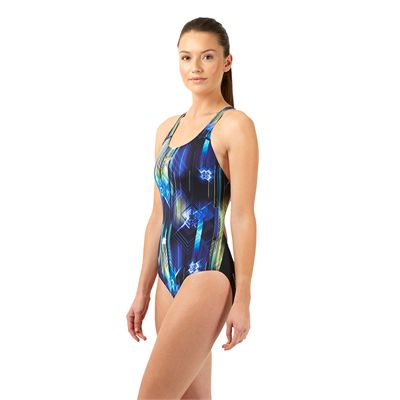 Speedo Endurance Plus Allover Digital Powerback Ladies - Left Side View