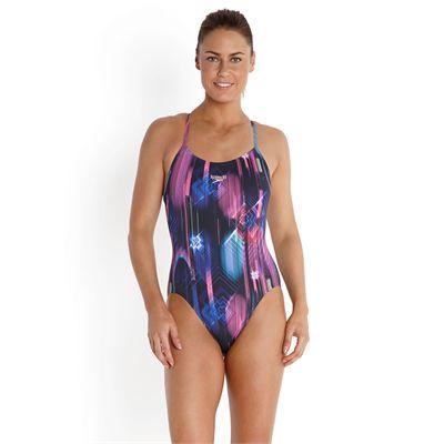 Speedo Endurance Plus Allover Digital Rippleback Ladies Swimsuit