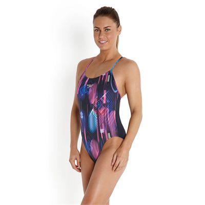 Speedo Endurance Plus Allover Digital Rippleback Ladies Swimsuit - Side