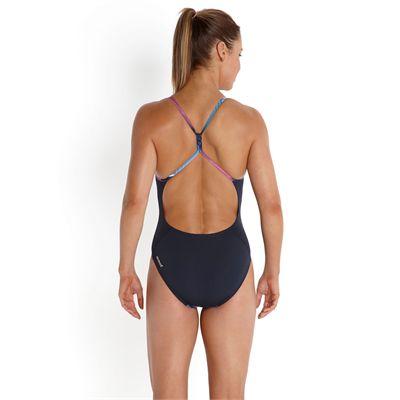 Speedo Endurance Plus Allover Digital Rippleback Ladies Swimsuit - Back