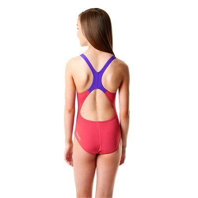 Speedo Endurance Plus Allover Splashback Girls Swimsuit - Back View