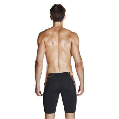 Speedo Endurance Plus Boom Splice Mens Jammers - black-orange-additional2