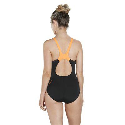 Speedo Endurance Plus Boom Splice Muscleback Ladies Swimsuit - Back