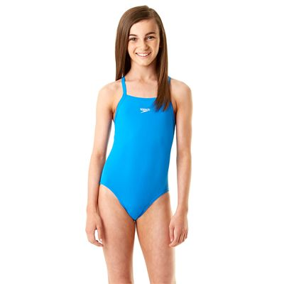 Speedo Endurance Plus Essential Solid Rippleback Girls Swimsuit