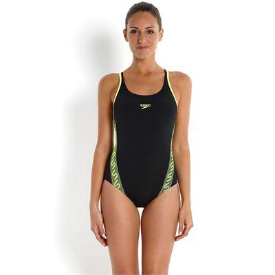 Speedo Endurance Plus Monogram Muscleback Ladies Swimsuit-Front