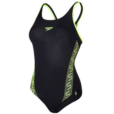 Speedo Endurance Plus Monogram Muscleback Ladies Swimsuit-Main Image