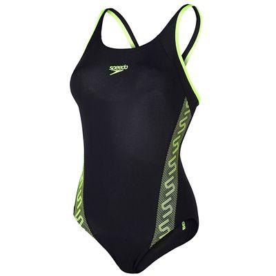 Speedo Endurance Plus Monogram Muscleback Ladies Swimsuit-Main Image