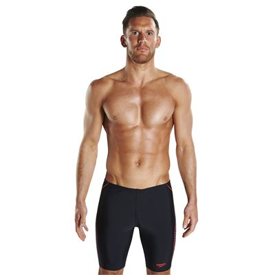 Speedo Endurance Plus Placement Panel Mens Swimming Jammers - Front