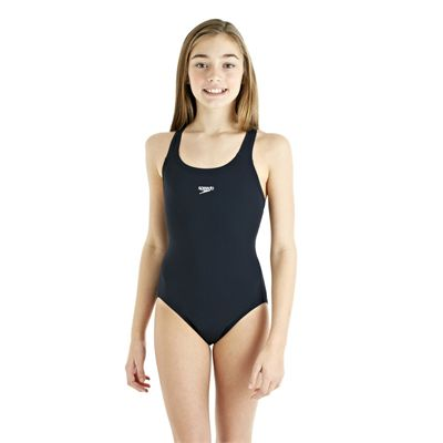 Speedo Endurance Plus Racerback Girls Swimsuit  - Navy - Front Viee