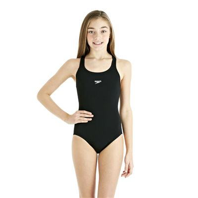 Speedo Endurance Plus Racerback Girls Swimsuit - Black - Front View
