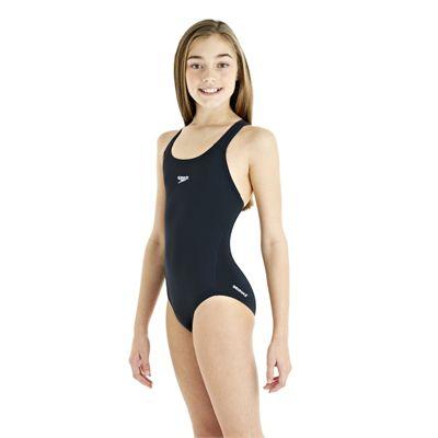 Speedo Endurance Plus Racerback Girls Swimsuit -Navy - Side View