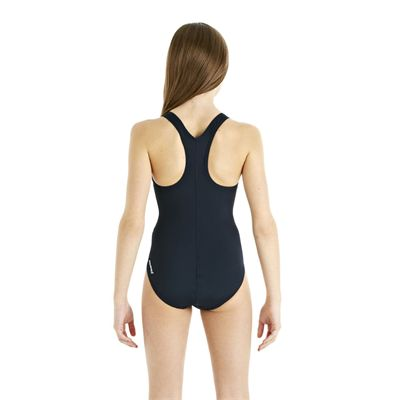 Speedo Endurance Plus Racerback Girls Swimsuit - Navy - Back View