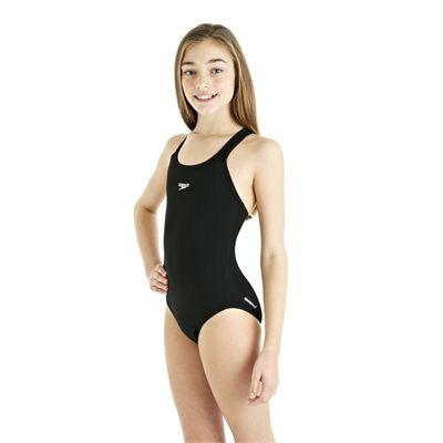 Speedo Endurance Plus Racerback Girls Swimsuit - Black - Side View