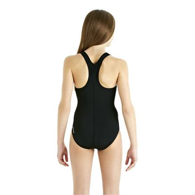 Speedo Endurance Plus Racerback Girls Swimsuit - Black - Back View