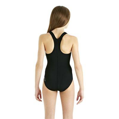 Speedo Endurance Plus Racerback Girls Swimsuit - Black - Back View