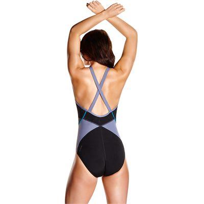 Speedo Endurance Plus Speedo Fit Splice Xback Ladies Swimsuit - Back