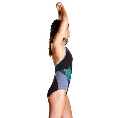 Speedo Endurance Plus Speedo Fit Splice Xback Ladies Swimsuit - Side