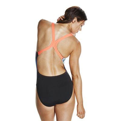 Speedo Endurance Plus StormFlow Digital Powerback Ladies Swimsuit - Back