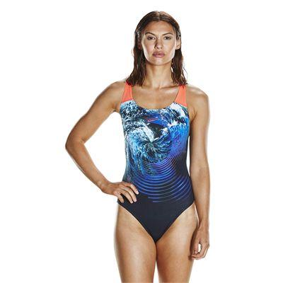 Speedo Endurance Plus StormFlow Digital Powerback Ladies Swimsuit
