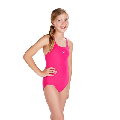 Speedo Essential EndurancePlus Medalist Girls Swimsuit - Side