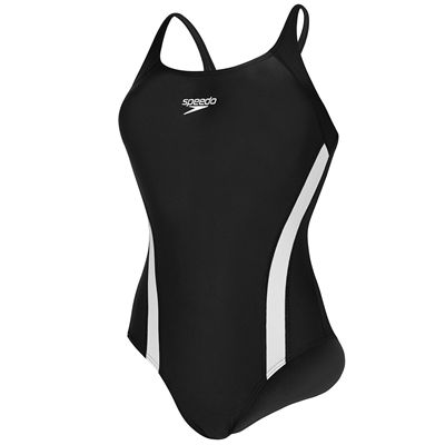 Speedo Essential Fluidfuse Pullback Ladies Swimsuit Cutout View