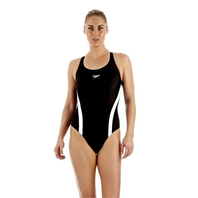 Speedo Essential Fluidfuse Pullback Ladies Swimsuit Front View