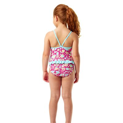 Speedo Essential Frill Infant Girls Swimsuit - Back View