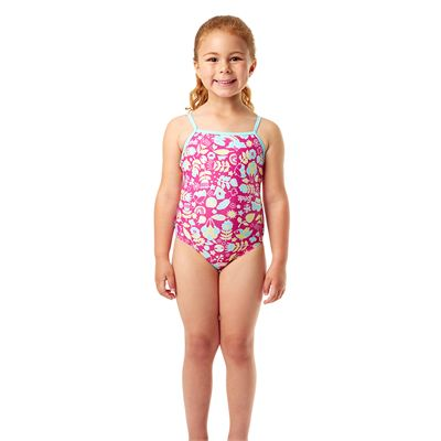 Speedo Essential Frill Infant Girls Swimsuit - Front View